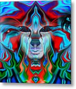 Color Plague My Mind Metal Print