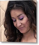 Color Portrait Young Spanish Woman II Metal Print