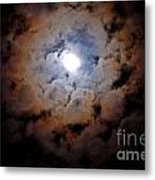 Color Ring Around The Moon Metal Print