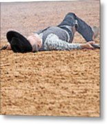 Color Rodeo Gunslinger Victim Metal Print