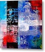 Color Scrap Metal Print by Nancy Merkle