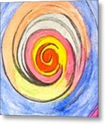 Color Spiral 5-25-2014 Metal Print