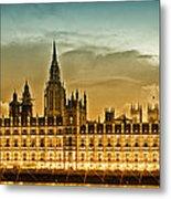 Color Study London Houses Of Parliament Metal Print by Melanie Viola