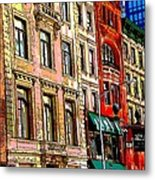 Color The City New York Metal Print by Thomas Fouch