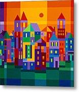 Color Town Metal Print