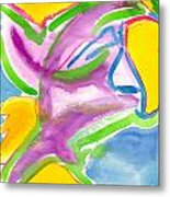 Color Triangles Metal Print