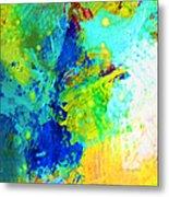 Color Wash Abstract Metal Print