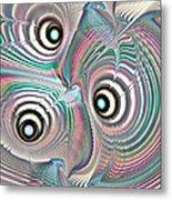 Color Waves Metal Print