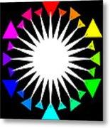 Color Wheel Burst Metal Print