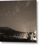 Colorado Chapel On The Rock Dreamy Night Sepia Sky Metal Print by James BO  Insogna