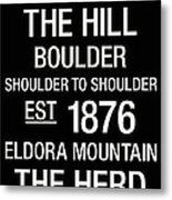 Colorado College Town Wall Art Metal Print