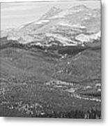 Colorado Continental Divide Panorama Hdr Bw Metal Print