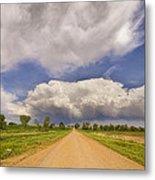 Colorado Country Road Stormin Skies Metal Print