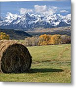 Colorado Haybale Metal Print