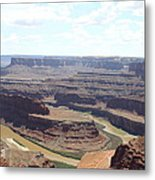Colorado River From Dead Horse Point  Metal Print