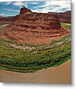 Colorado River Gooseneck Metal Print