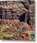 Colorado River In The Grand Canyon High Water Metal Print