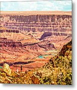 Colorado River One Mile Below And 18 Miles Across The Grand Canyon  Metal Print