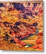 Colorado River 1 Mi Below 100 Miles To Vermillion Cliffs Utah Metal Print