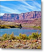Colorado River Upstream From Boat Ramp At Lee's Ferry In Glen Canyon National Recreation Area-az Metal Print