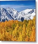 Colorado Rocky Mountain Autumn Magic Metal Print
