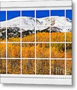 Colorado Rocky Mountain Autumn Pass White Window View  Metal Print