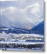Colorado Rocky Mountain Autumn Storm Metal Print