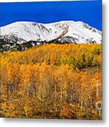 Colorado Rocky Mountain Independence Pass Autumn Pano 2 Metal Print