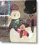Colorado Snowman Family 1 12 2011 Metal Print