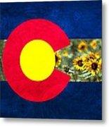 Colorado State Flag In Van Gogh Metal Print
