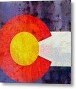 Colorado State Flag Weathered And Worn Metal Print