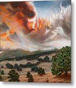 Colorado Wildfire-fern Lake Metal Print