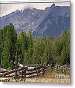 Colorado Wilson Peak Clouds Metal Print