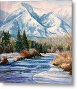 Colorado Winter On The Arkansas River Metal Print