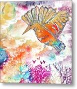 Colored Bird Metal Print