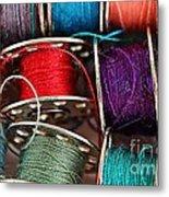 Colored Bobbins - Seamstress - Quilter Metal Print
