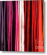 Colored Cloth Metal Print