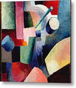 Colored Composition Of Forms   Metal Print
