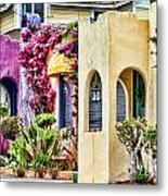 Colored Cottages By Diana Sainz Metal Print