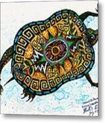 Colored Cultural Zoo C Eastern Woodlands Tortoise Metal Print