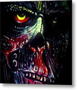 Colored Decay Metal Print