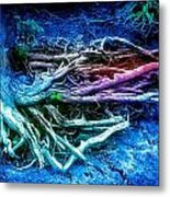 Colored Forest Metal Print