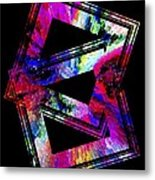 Colored Geometric Art Metal Print by Mario Perez