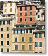Colored Italian Facades Metal Print