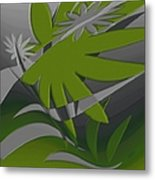 Colored Jungle Green Metal Print