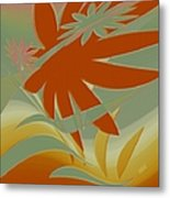 Colored Jungle Orange Splash Metal Print