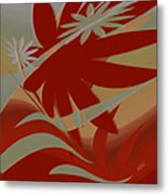 Colored Jungle Red Metal Print