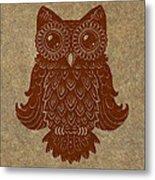 Colored Owl 2 Of 4  Metal Print