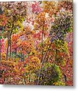 Colored Pallet Smoke Trees Metal Print