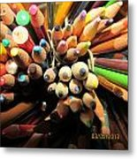 Colored Pencils Metal Print by Jaime Neo